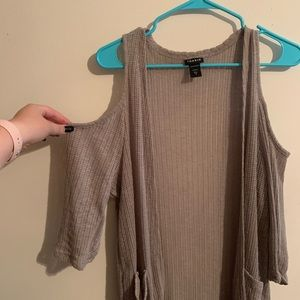 Torrid Cold Shoulder Light Sweater with Pockets